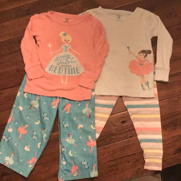 Carter's Other - Toddler girl princess pajama lot